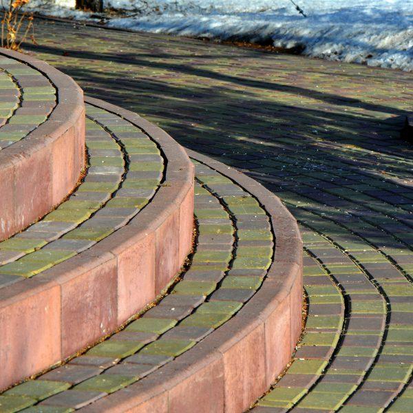 Бордюр для тротуарной плитки (поребрик) фото установки 3