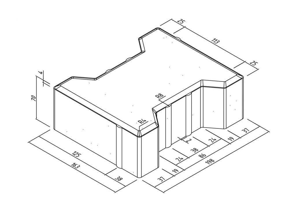 Тротуарная плитка катушка размеры 3
