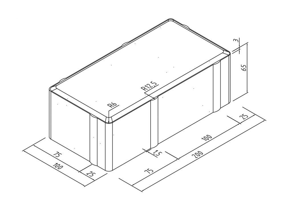 Тротуарная плитка кирпичик (100х200х60мм) размеры 2