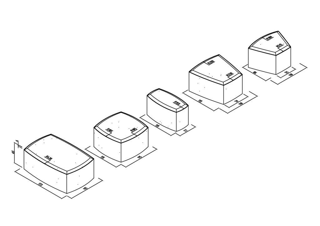 Брусчатка старый город (классика круговая) размеры