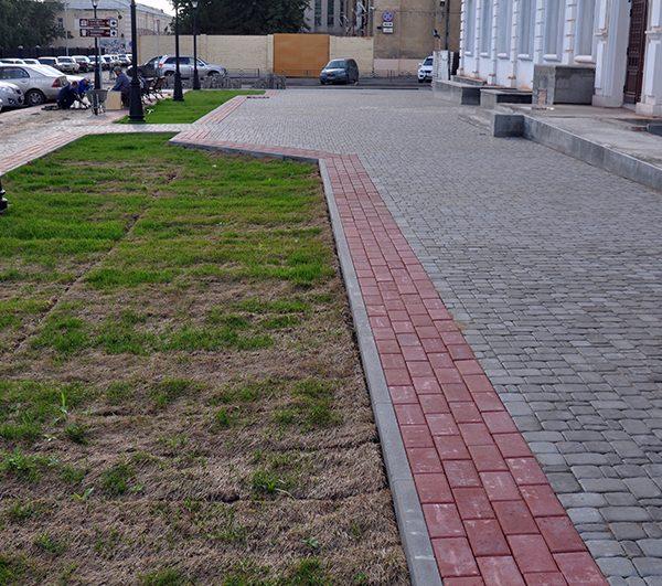 Бордюр для тротуарной плитки фото установки 2