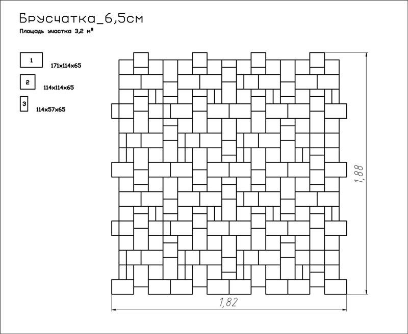 Брусчатка старый город (классика) вариант укладки 1
