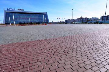 Тротуарная плитка кирпичик большой (120х240х80мм) фото укладки 1