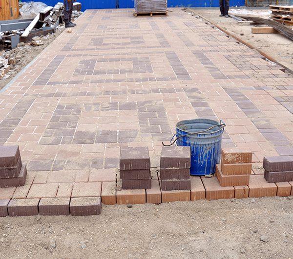 Тротуарная плитка эко фото укладки 2