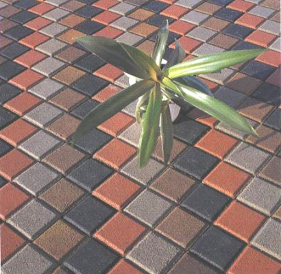 Тротуарная плитка Кубик вид 2